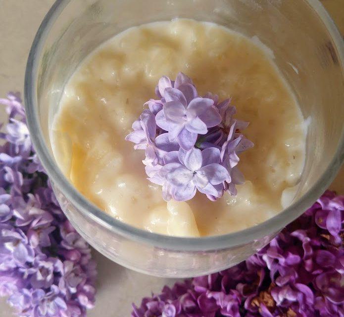 Riz au lait au lilas