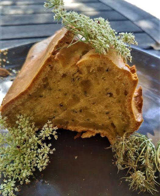 Gâteau minute aux fruits de carotte sauvage