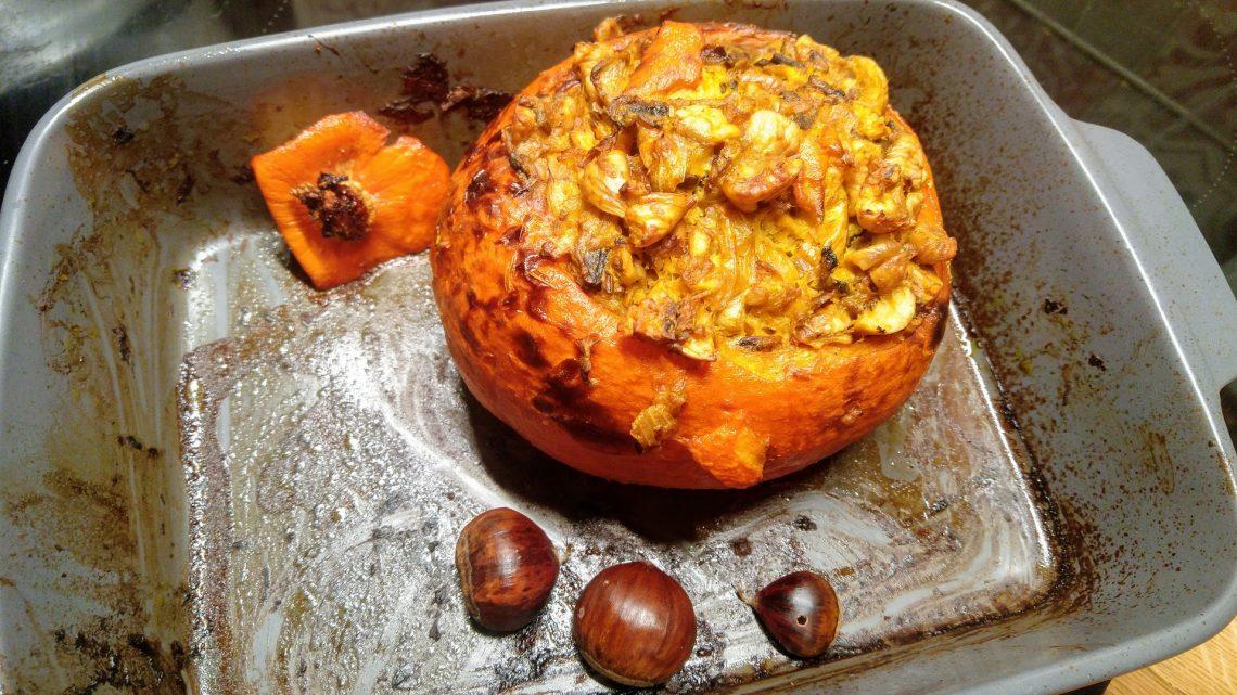 Recette gourmande de saison : potimarron farci aux châtaignes et champignons